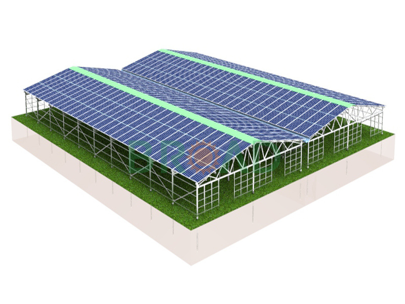 Solar Agriculture Greenhouse Mounting System