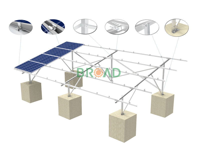 Solar PV plant mounting solution