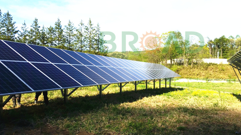 solar panel racks ground