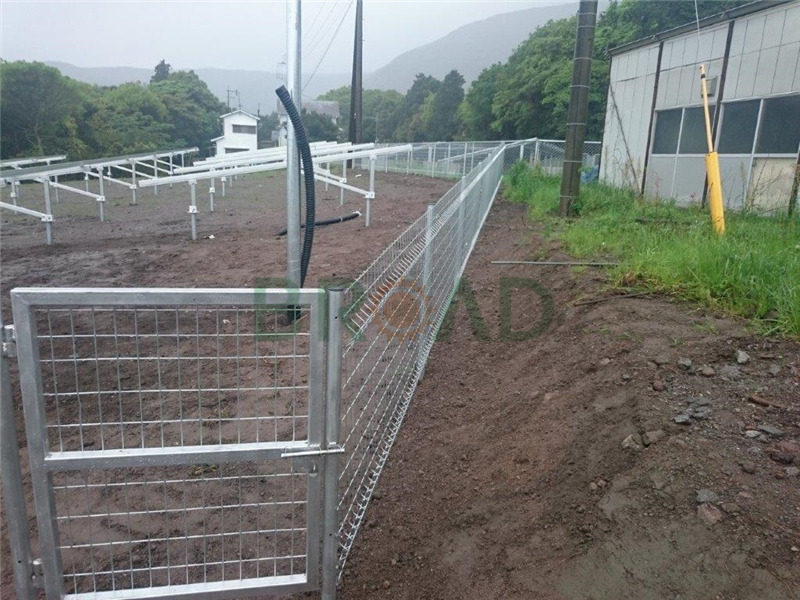 solar ground mounted fence
