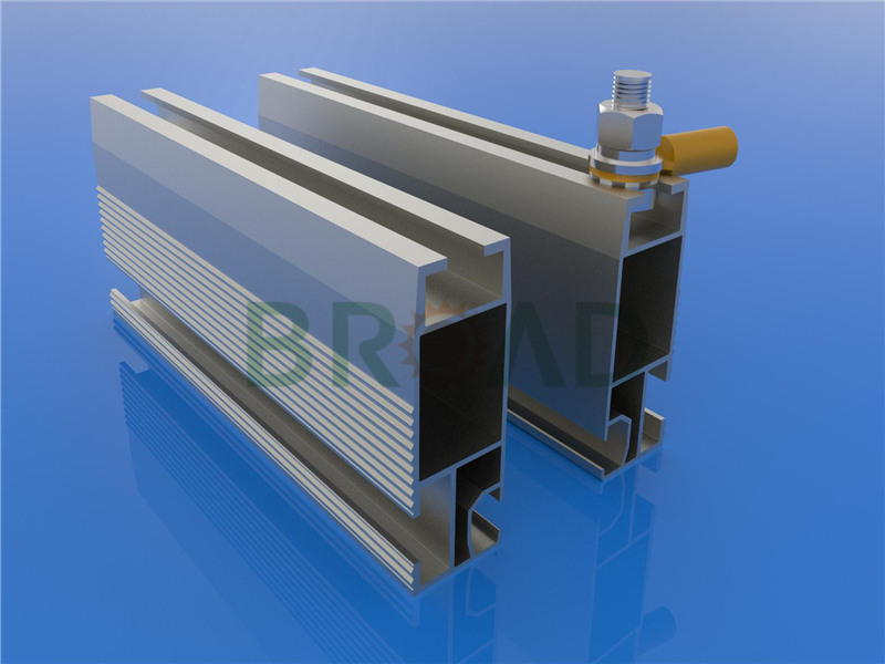 Solar rail for roof mounting