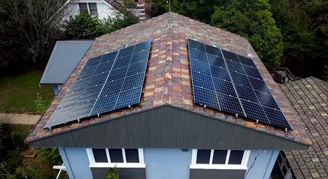 What's the function of solar pv mounting systems on the roof?