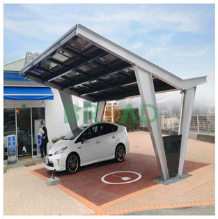 Waterproof solar carport systems- 20KW in Japan