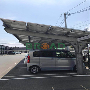 Single pile carport structures-30KW in Japan