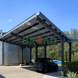 Single pile solar carport system- 50KW in Dubai