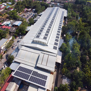900KW roof projects by using U-shape rail in Malaysia
