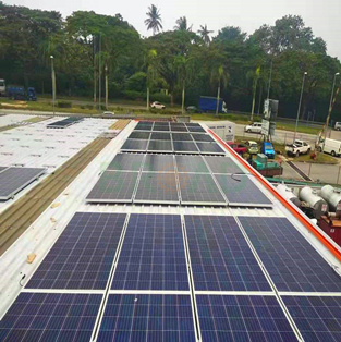Trapezoid tin roof solar project-450KW in Malaysia